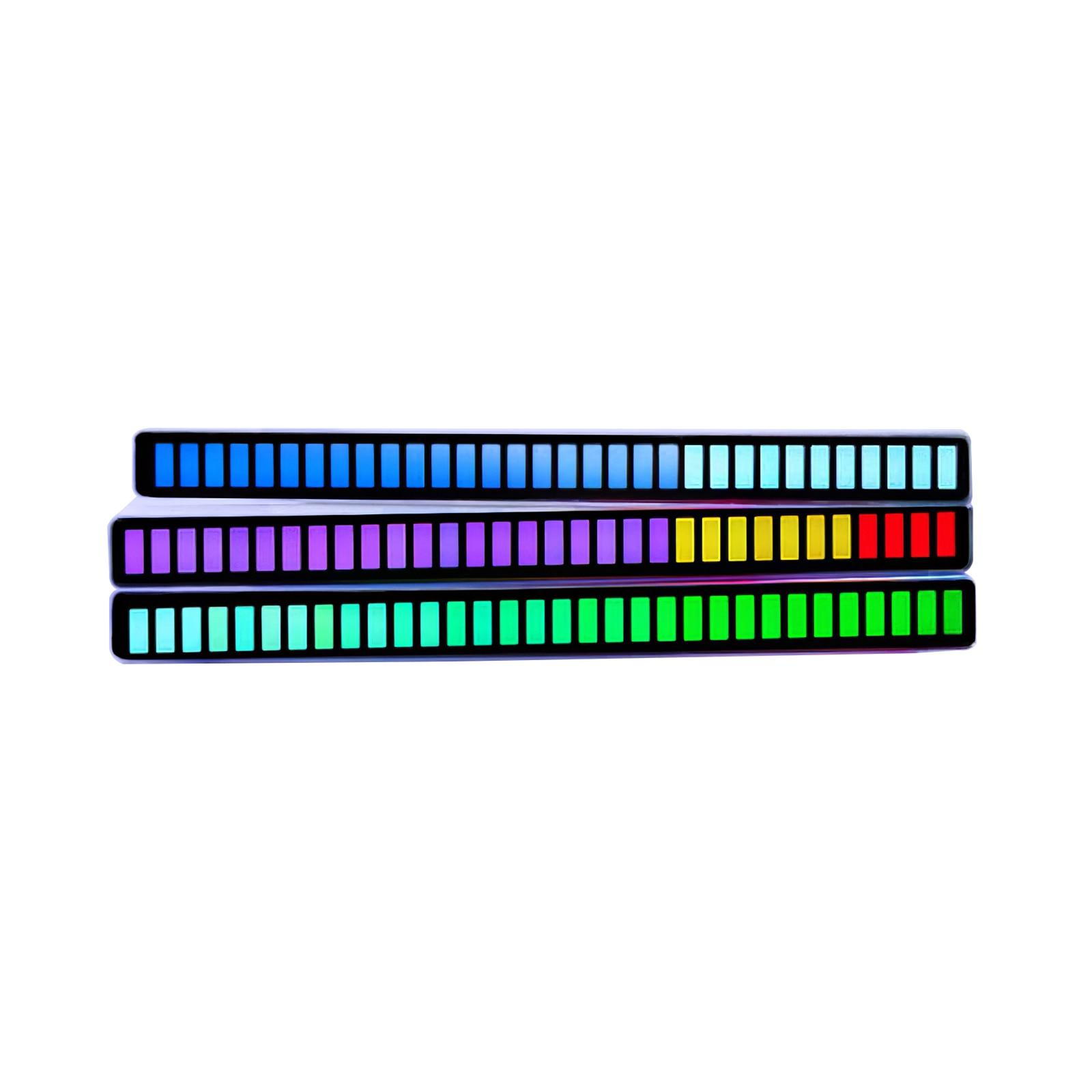 Espectro de Música Medidor para o Jogador do Carro Luz de Nível Música Estéreo Áudio Indicador Amplificador Lâmpadas Atmosfera Led Agc Luz