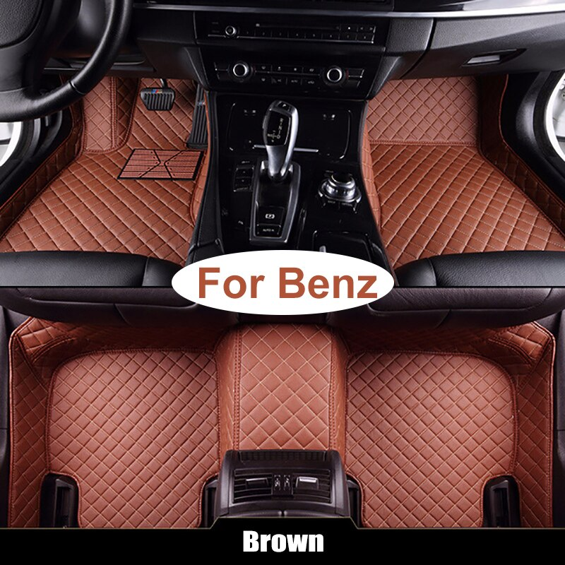 Custom Car Floor Mats For Mercedes Benz Coupe C205 A205 W205 W204 E-Klasse Class S213 A213 W212 C238 car accessories car styling