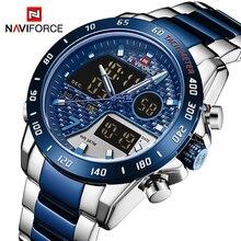 Top Brand NAVIFORCE Luxury Men's Watches Military LED Digital Alarm Sport Wrist watch for Men Stainl