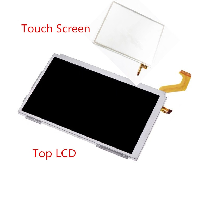 5Set جودة عالية جديد شاشة LCD العلوي ل 3DS XL وحدة التحكم العلوي شاشة LCD مع شاشة تعمل باللمس
