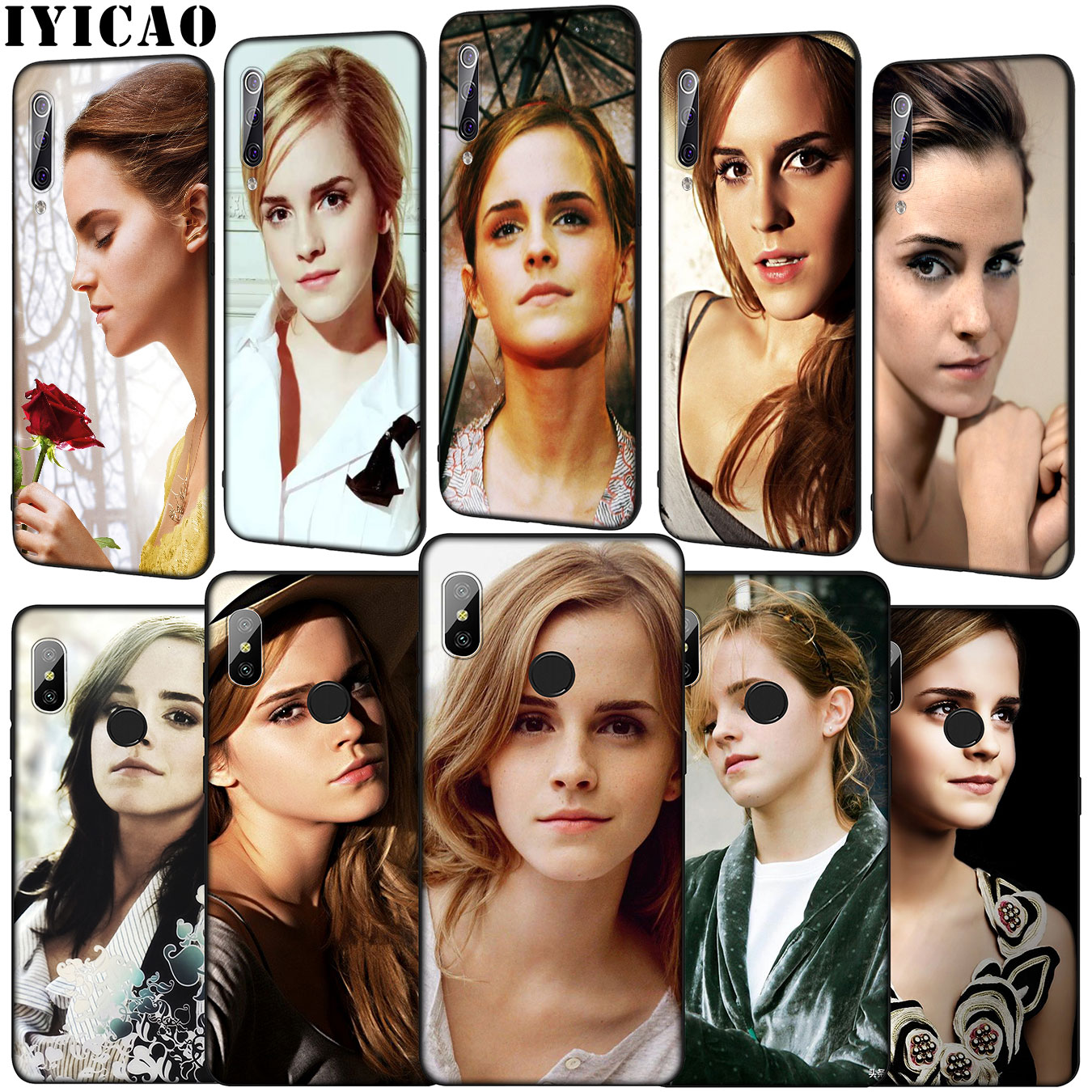IYICAO Emma Watson suave funda de teléfono para Xiaomi Mi 10 9 9T A3 Pro CC9 CC9E 8 SE A2 Lite A1 6 teléfono móvil f1 Mi9