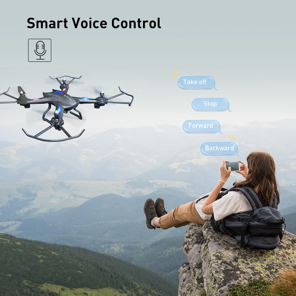 SNAPTAIN S5C Drone WiFi FPV 1080P HD camera drone Voice control Gravity Sensor drone profissional Foldable Quadcopter RC Dron enlarge