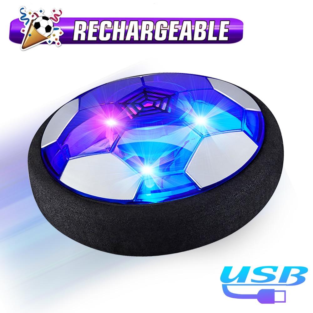 18 см зависания Футбол мини игрушка мяч с воздушной подушкой; Подвесная светодиод мигает Indoor Спорт на открытом воздухе весело футбол образов...