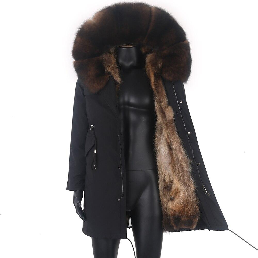 جاكيت شتوي للرجال 7XL موضة جديدة 2021 معطف فرو ثعلب طويل دافئ باركا رجالي ثعلب فرو طبيعي ملابس خارجية ملابس خروج