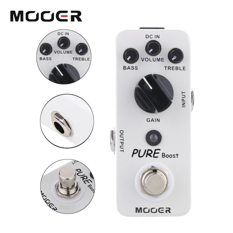 Mooer Mbt2 Pure Boost Electric Guitar Effect Pedal Power Supply Pedals Effector Musical Accessories For Guitar Instruments enlarge