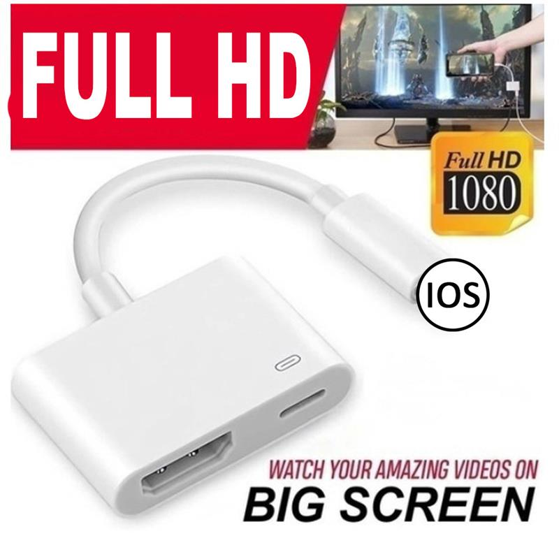 Brand New AV TV Adapter Cable With Charging Port HDMI-Compatible Adapter Phone Accessories For IPad/