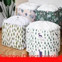 quilt storage bag folding storage box basket super large bundle mouth dirty clothes basket bedroom accessories quilt fabric type
