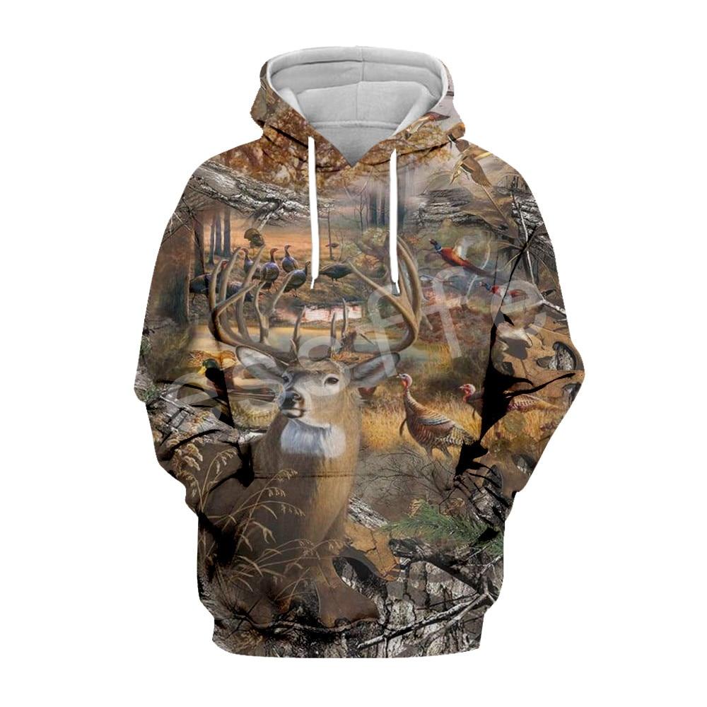 Tessffel Hunter Animal Camo moda Chándal 3DPrint Hoodie/sudadera/chaqueta/hombres mujeres colorido casual Harajuku type7