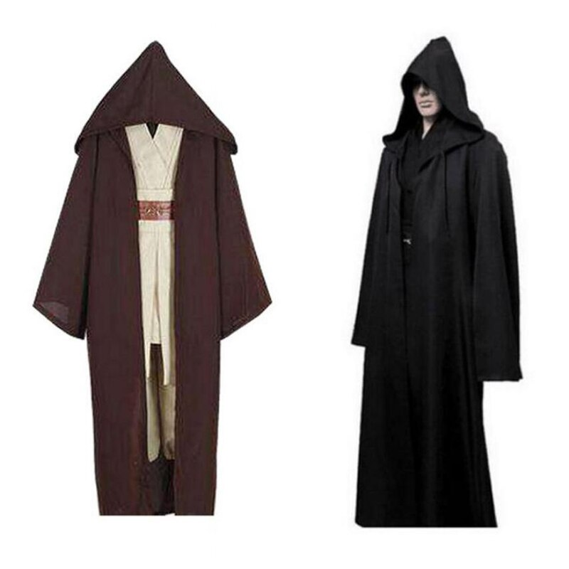 Traje de Cosplay de Guerrero Darth Vader Star Wars Anakin Skywalker capa de hombre adulto traje de gladiador capa con capucha ropa