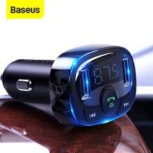 Baseus FM transmetteur mains libres Bluetooth Kit de voiture lecteur MP3 avec 3.4A double USB chargeur de voiture FM modulateur émetteur