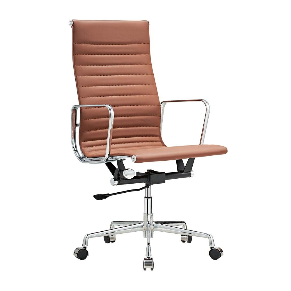كرسي دوار دوار بتصميم إسكندنافي مريح ، كرسي مكتب ، حديث ، مريح ، بني ، متوفر في الولايات المتحدة