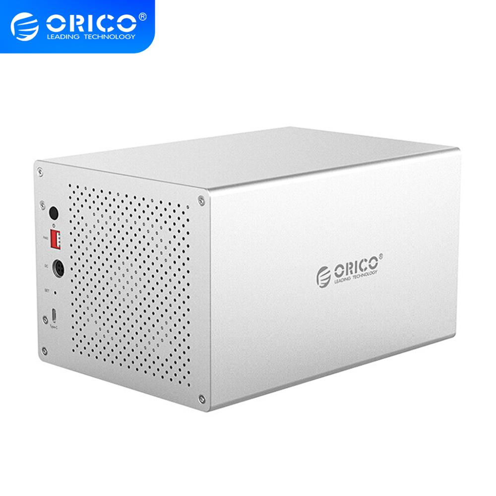 ORICO WS Series 3.5'' 5 Bay Type C With RAID HDD Enclosure Support 5*10TB HDD Docking Station 5Gbps USB3.1 Hard Disk Case