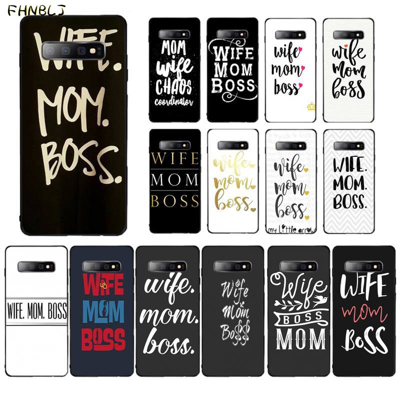 FHNBLJ, funda de teléfono suave de TPU negra con palabras de la mejor mamá para Samsung S10 5G S7 EDGE S8 S9 S10 S20 PLUS S10Lite