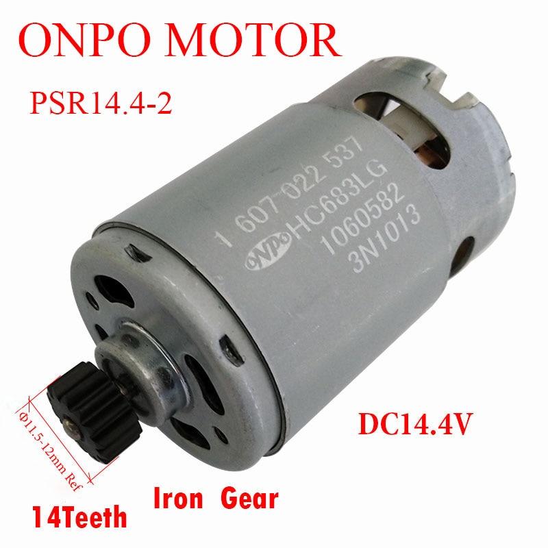 14.4V/BR DC Motor 3601J18GD0 14 Teeth HC683LG  1607022537 for Bosch PSR14.4-2 electric drill Maintenance Parts