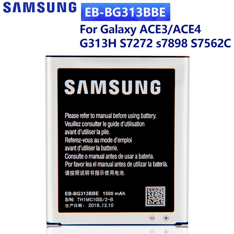 SAMSUNG Original Battery EB-BG313BBE for Samsung Galaxy ACE 3 4 neo Lite G313H S7272 s7898 S7562C G318H G313m J1 Mini Prime enlarge