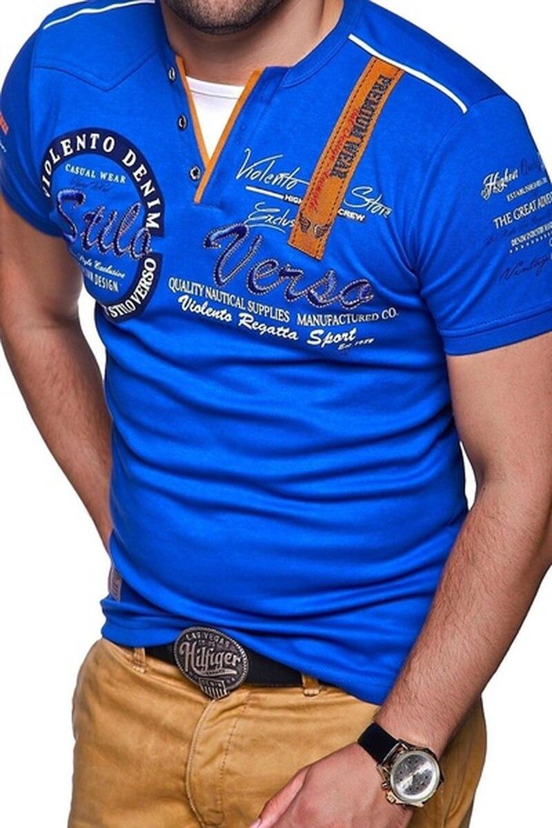 Camiseta de manga corta para hombre, camisa de algodón cultivada con personalidad,...