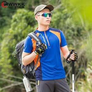 WWKK 2021 Mens  Running Sport Tshirt Fitness Quick Dry M-6XL Short Sleeve Training Breathable Material Outdoor Men T Shirt