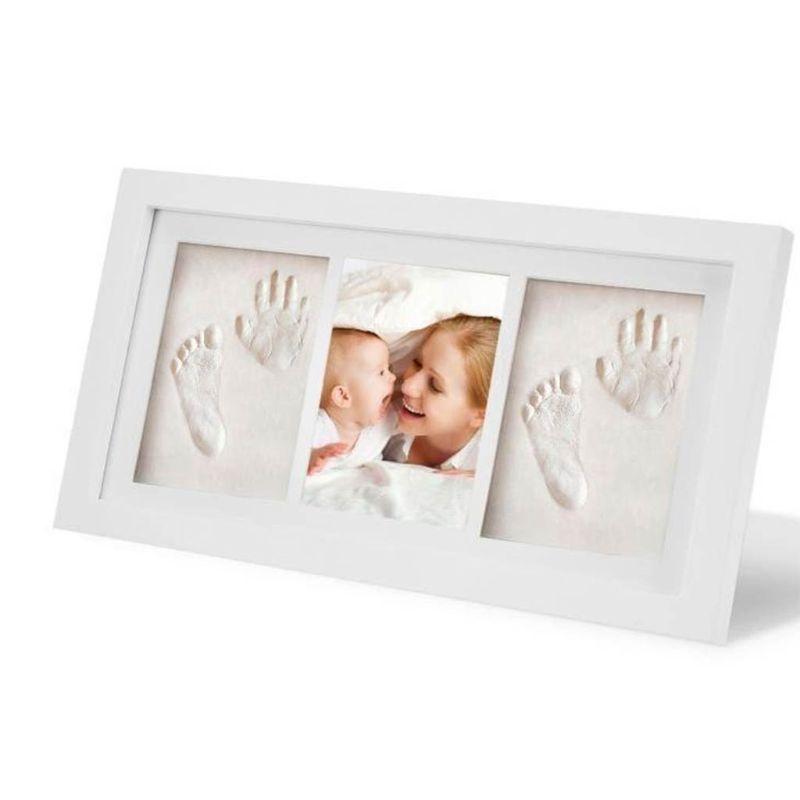 conjunto de moldura de madeira para criancas bebe pe mao dedo moldura impressao tinta