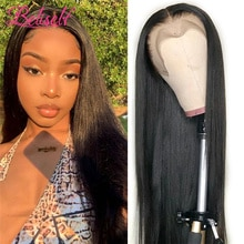 Beliself 30 Inch Bone Straight Human Hair Wig 13 x 6 Lace Front Wig For Women Human Hair 4×4 Lace c