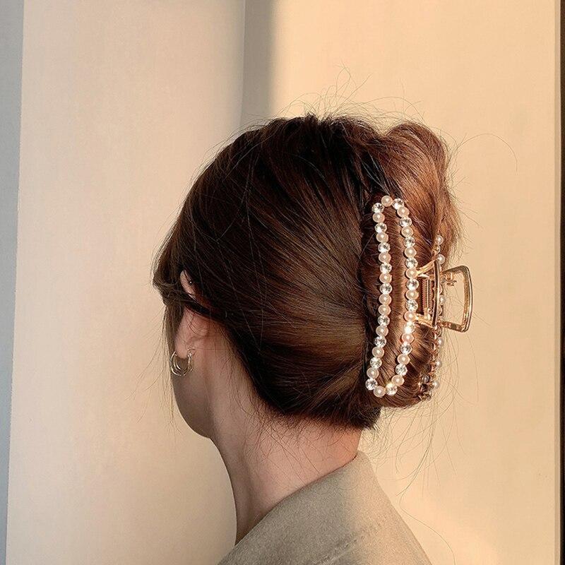 2021 perla Vintage de aleación de diamantes de imitación Clip garra accesorios...