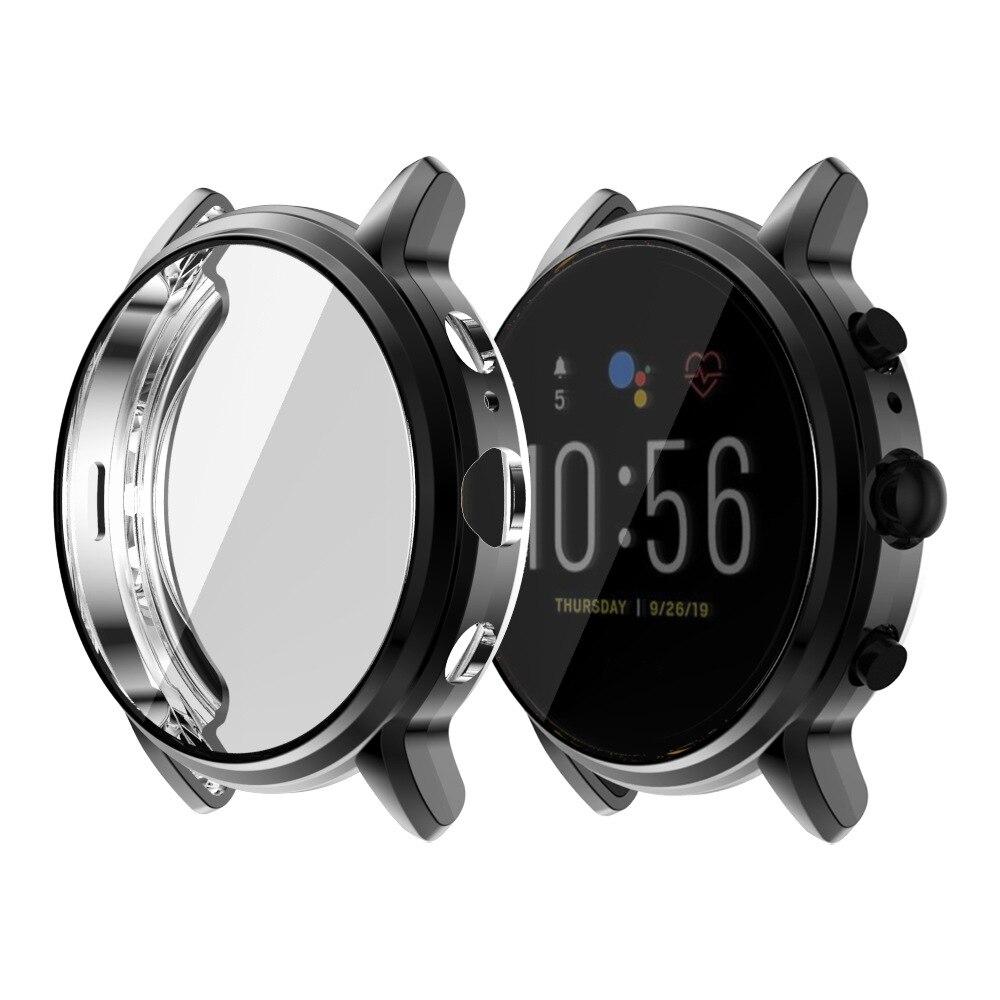 Funda de TPU blando para Fossil Gen 5, Protector de pantalla para reloj inteligente FTW4025 de 4026 y 44mm, accesorios protectores para relojes inteligentes