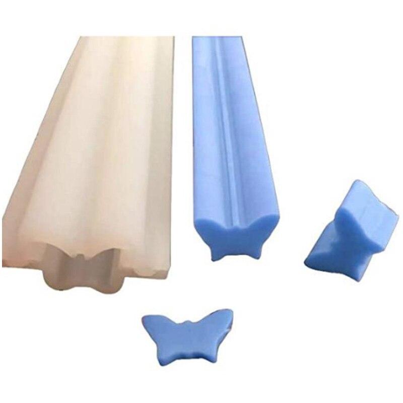 Molde de silicona para jabón con columna de tubo de mariposa, suministros de jabón con incrustaciones, moldes de silicona para jabones, envío directo