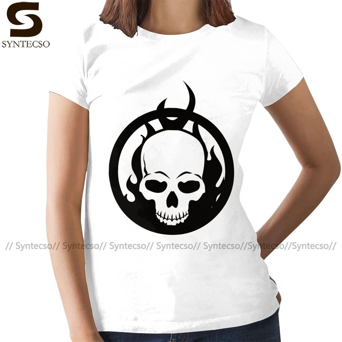 Женская футболка с изображением черепа Ghost Rider, белая футболка с изображением черепа, летняя футболка