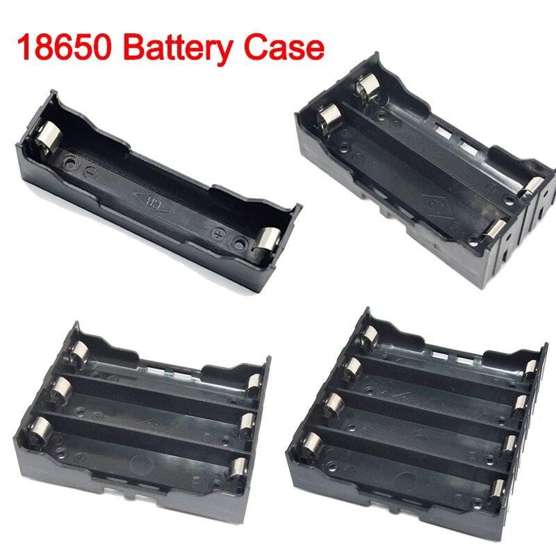 New DIY ABS 18650 Power Bank Cases 1X 2X 3X 4X 18650 Battery Holder Storage Box Case 1 2 3 4 Slot Ba