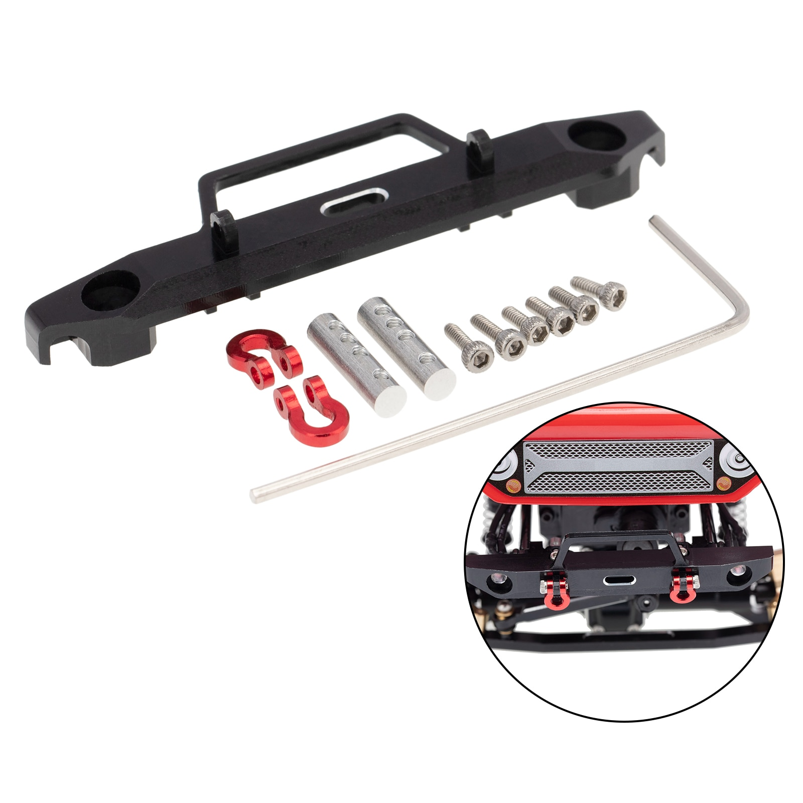 Remote Control Car Parts Front Bumper for Axial SCX24 AX90081 DEADBOLT 1:24 Scale RC Crawler enlarge
