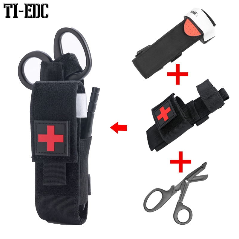 Tactical CAT Tourniquet & Trauma Medical Shear,Tourniquet Bag,MOLLE Pouch Duty Belt Loop for First aid kit,fast hemostasis
