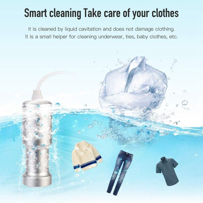 Jewelry Cleaner Mini Ultrasonic Cleaner Washing Machine for Fruit, Glass Denture, Jewelry Diamond Accessories