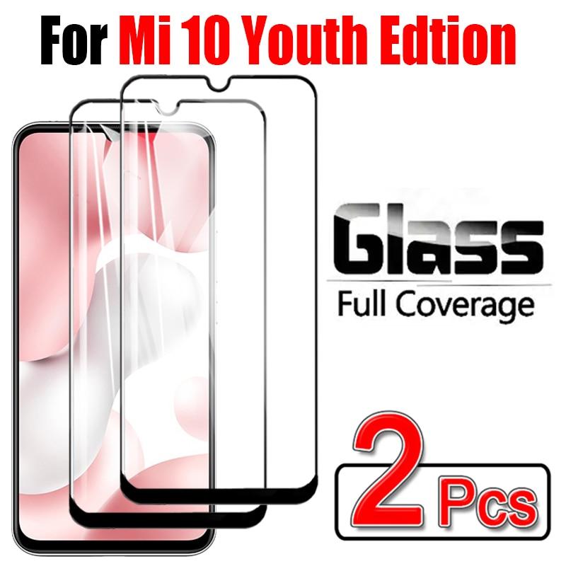 Para xiaomi 10 jóvenes 5g vidrio mi 10 jóvenes edición Protector de pantalla xiomi xiaomi 10 mi10 mi10youth protectora transparente glas 1 a 2 uds
