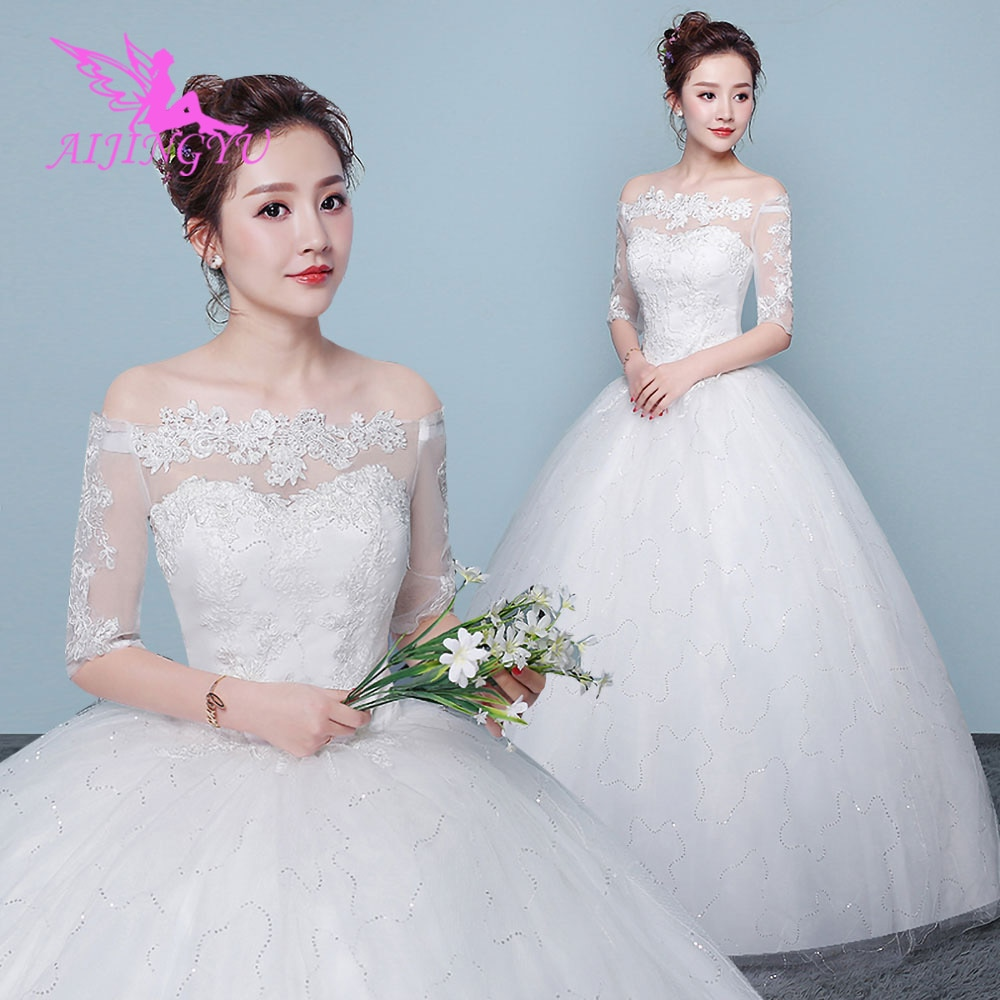 AIJINGYU-فستان زفاف على الطراز الياباني مع تنورة ، زي أميرة مثير ، بأسعار معقولة ، فريد ، عصري