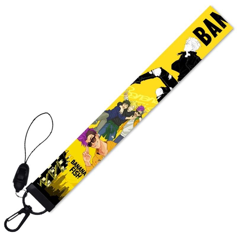 Japanese Anime BANANA FISH Lanyard Key Chain ID Tag Work Name Card Lanyard Cassette Hanging Rope Lanyard Peripheral Detachable