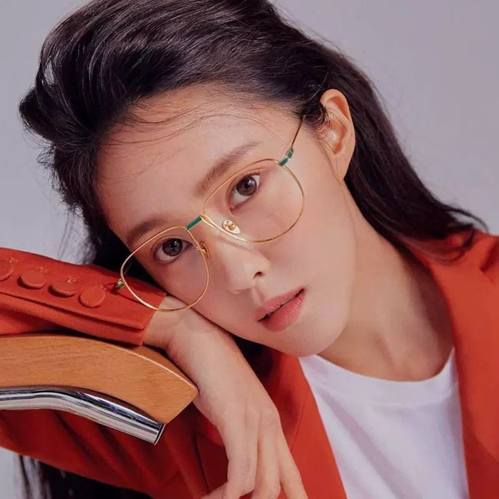 ELECCION Vintage Prescription Glasses Women 2019 New Full Metal Frames Myopia Eyeglasses Anti Blue Light okulary korekcyjne
