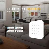 Tuya     systeme dalarme anti-Intrusion domestique sans fil  wi-fi  GSM  avec application Smart Life  controle vocal Amazon Alexa Google Home