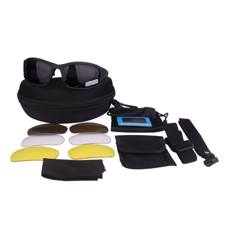 Tactical Polarized Glasses Military Goggles Army Sunglasses with 4 Lens Original Box Men Shooting Ey