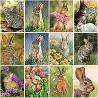 diy rabbit 5d diamond painting full square drill animal decoration embroidery picture handcraft art kits cross stitch home decor