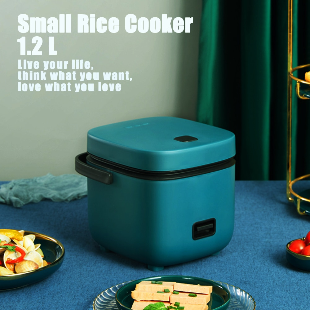 220V 1.2L Multi  Mini Rice Cooker Small 1-2 Person Electric Cooker  Household  Single Kitchen Household Appliances WIth Handle multifunctional rice cooker 400w low power mini household electric cooker