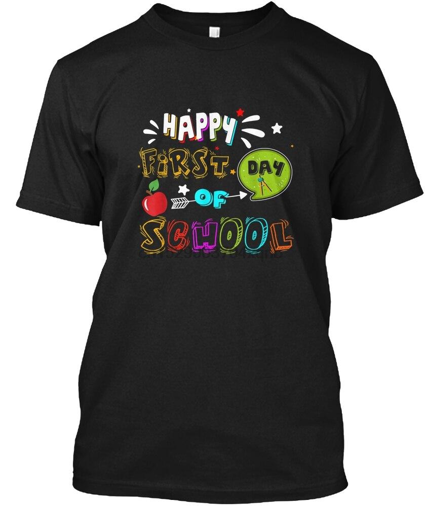 Camiseta para hombre feliz primer día de escuela camisetas divertidas Gi camiseta para mujer