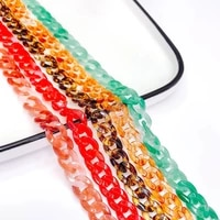 1m multicolors resin plastic wave chain pendant necklace bracelet charms for jewelry finding diy handmade material kp3306
