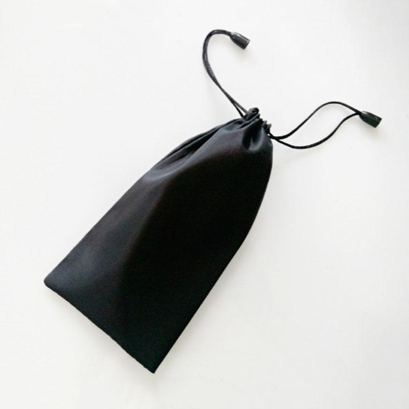Sac pour lunettes de soleil en microfibre   Portable, en tissu souple, imperméable, conteneur pour lunettes à poussière en microfibre, sac de, pochette de rangement, accessoire E2K7