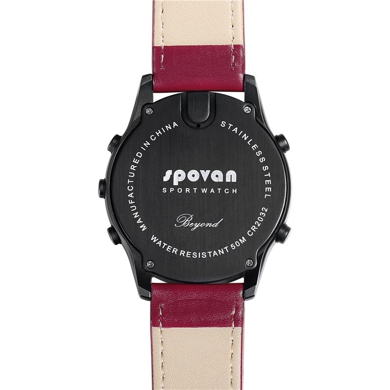 SPOVAN Fashion Watch Man Waterproof LED Compass Altimeter Pedometer Digital Fitness Sport Wristwatch Clock Relogio Masculino enlarge