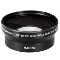 62mm 0 43X Wide Angle Macro Conversion Lens for sony HDR-XR520 VHDR-CX7 HDR-SR5 nikon canon pentax olympus DSLR camera