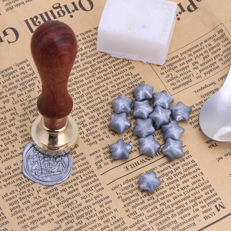 100pcs/Bag Pentacle Wax Seal Tablet Pills Granule in Bulk Beads Documents Custom Post Supplies