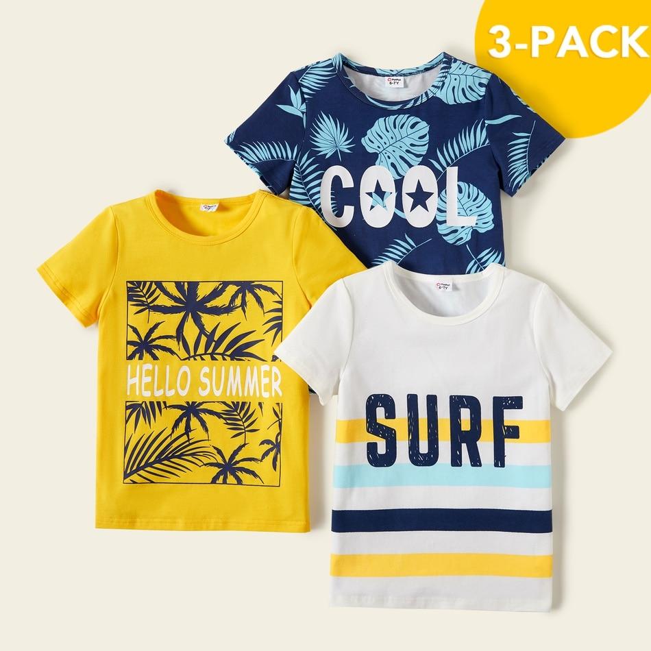 PatPat 2021 Новое летнее платье из хлопка из 3 предметов для маленьких мальчиков, для отдыха с буквенным принтом, Детская футболка с принтом футболки для детей, топы с короткими рукавами для маленького мальчика, детская одежда|Футболки для мальчиков| | АлиЭкспресс