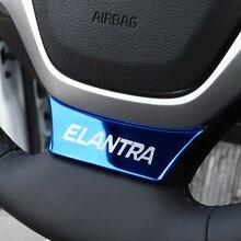 Auto Innen lenkrad dekorative abdeckung pailletten Emblem Abzeichen für Hyundai Elantra 2016 2017 2018 2019 2020 zubehör