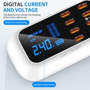 Image 4 - Зарядное устройство с 8 портами USB, быстрая зарядка 3,0, ЖК дисплей, зарядное устройство для телефонов Android, iPhone, быстрая зарядка для xiaomi, huawei, samsung