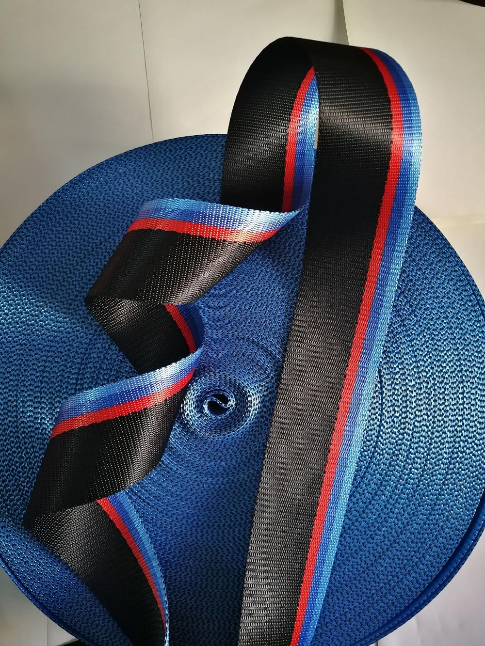 3M-30M Multicolor Car Seat Belt Webbing European Standard Car Personalized Modification Seat Belt Webbing For Bmw Accessories