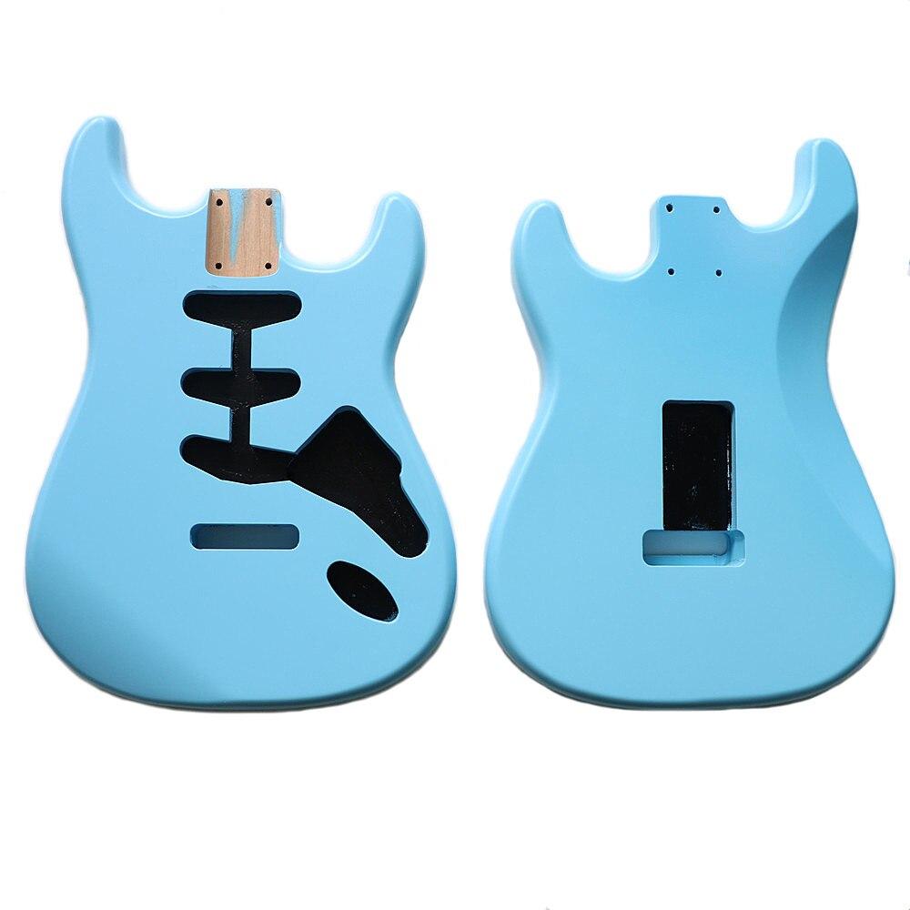 Nitro DIY SSS Sonic azul Alder ST guitarra cuerpo para SSS hecho a mano kits de guitarra electrica